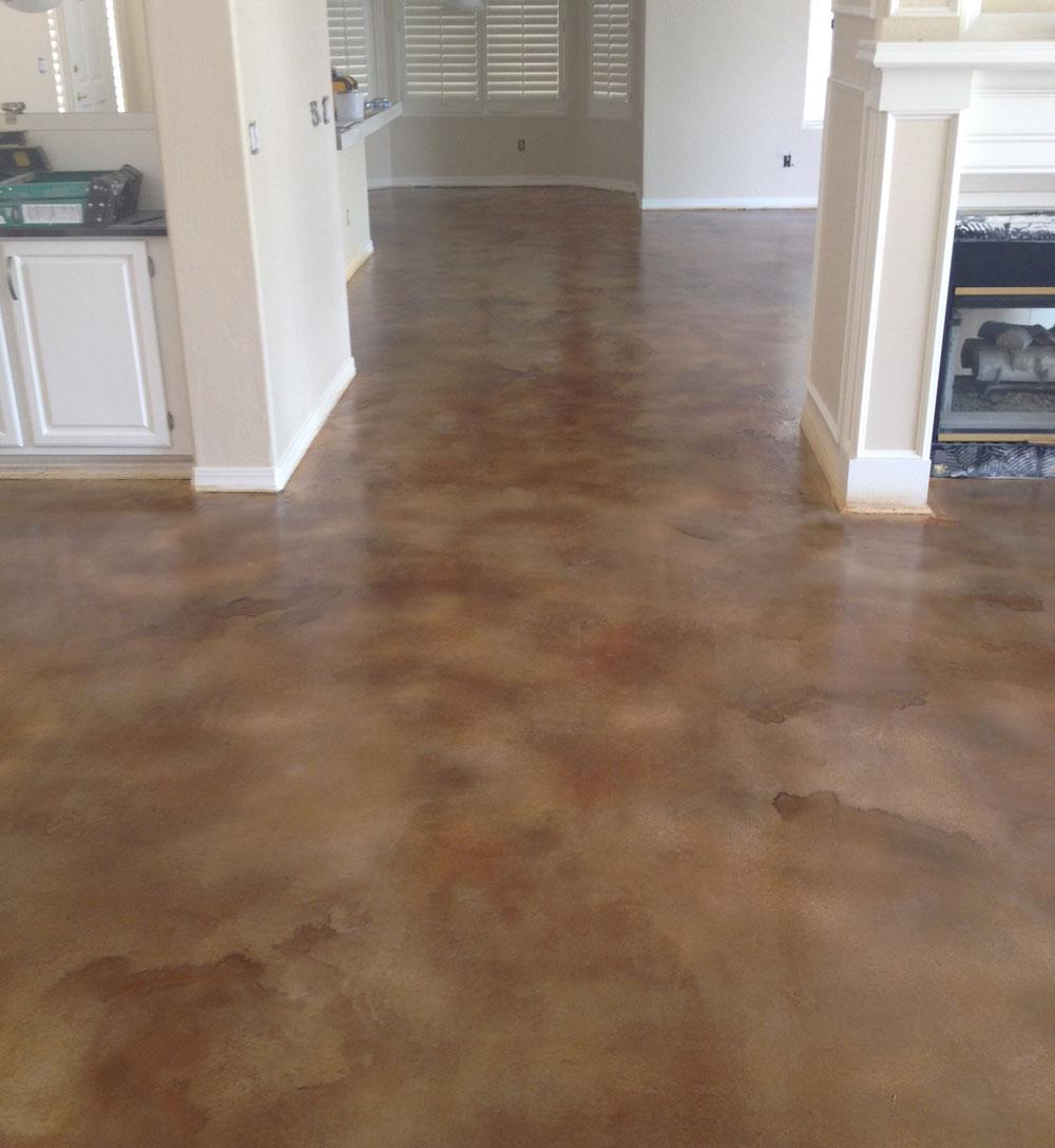 arizona stained interior cement floor