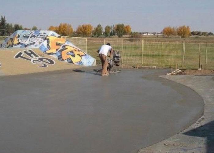 skatepark cement work