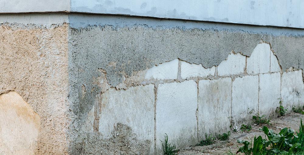 basement and foundation concrete parging